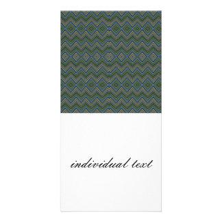chevron zigzag pattern green picture card