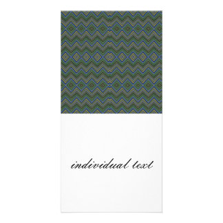 chevron,zigzag,pattern green picture card