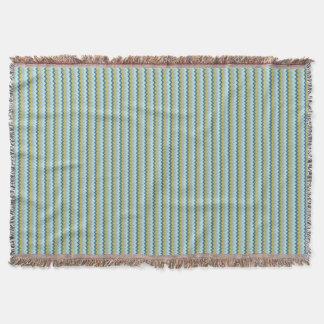 Chevron zigzag pattern in green blue colors