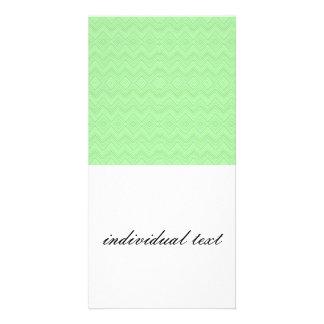 chevron zigzag pattern light green photo card
