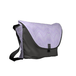chevron zigzag pattern light lilac courier bag