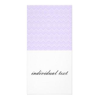 chevron zigzag pattern light lilac photo card