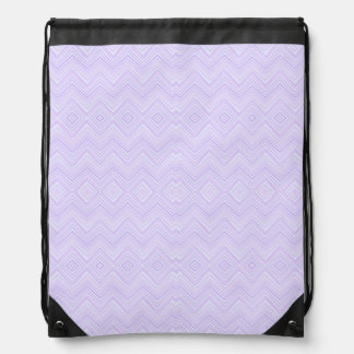 chevron zigzag pattern light lilac drawstring bags