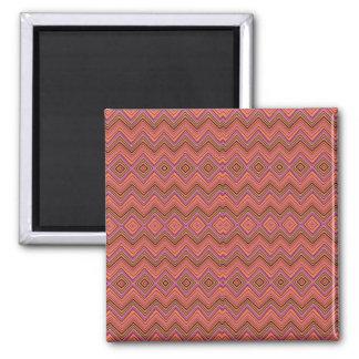chevron,zigzag,pattern peach refrigerator magnet