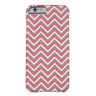 Chevron Zigzag Pattern Pink and Green Barely There iPhone 6 Case