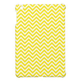 Chevron Zigzag Pattern Yellow and White Case For The iPad Mini