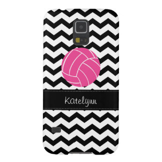 Chevron Zigzag Pink Volleyball Samsung Galaxy Case