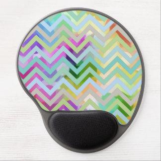 Chevron ZigZag Rainbow Paint Dots Gel Mousepad