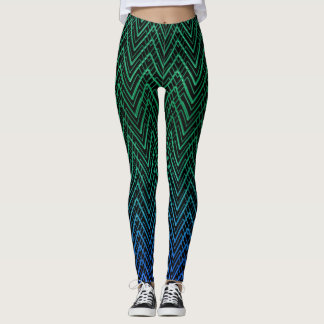 CHEVRONS AQUA LEGGINGS