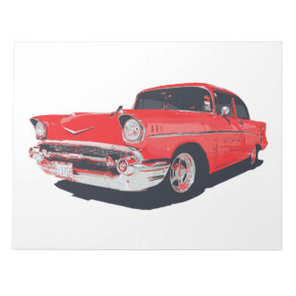 Chevy Bel Air 57 illustration notepad Memo Note Pads