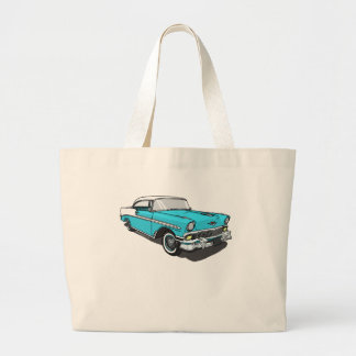 Chevy Bel Air - Blue Large Tote Bag