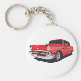 Chevy Bel Air vector illustration Basic Round Button Key Ring