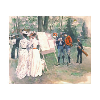 Chevy Chase Golf Tournament 1902 Canvas Print