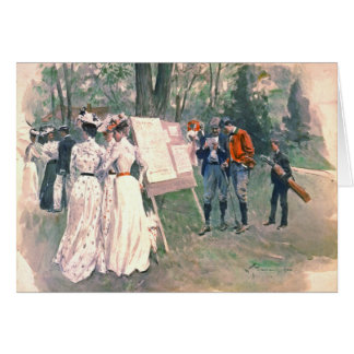 Chevy Chase Golf Tournament 1902 Greeting Card
