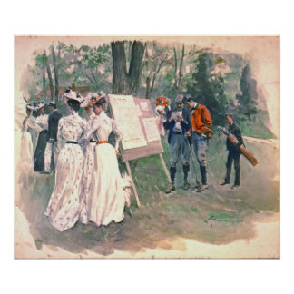 Chevy Chase Golf Tournament 1902 Print
