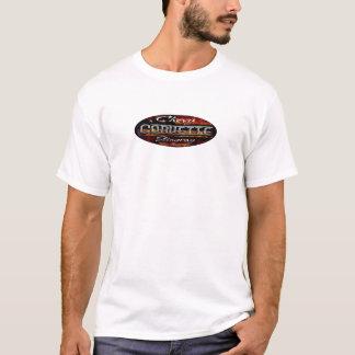 Chevy Corvette Stingray- Oval Flag Emblem Classic T-Shirt