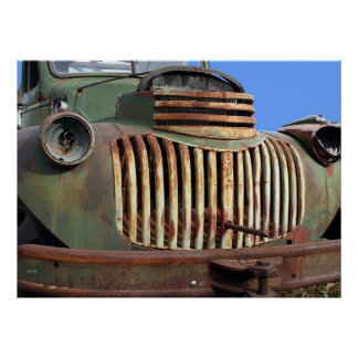 Chevy Grille, Gold Hill Poster
