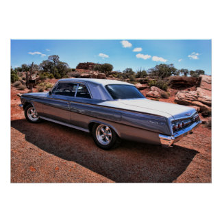 Chevy Impala Classic American Muscle Car Poster