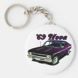 Chevy:  Nova Basic Round Button Key Ring
