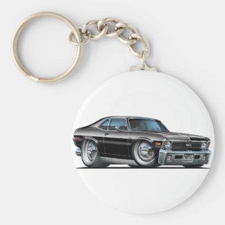Chevy Nova Black Car Key Ring