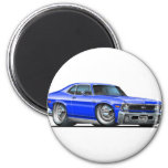 Chevy Nova Blue Car Fridge Magnets