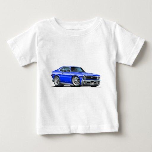 Chevy Nova Blue Car T-shirts