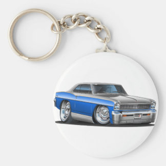 Chevy Nova Blue-Grey Car Key Ring