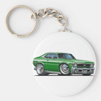 Chevy Nova Green Car Basic Round Button Key Ring