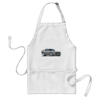 Chevy Nova Silver Car Adult Apron