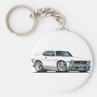 Chevy Nova White Car Key Ring