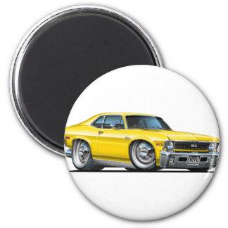 Chevy Nova Yellow Car Magnet