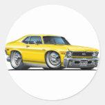 Chevy Nova Yellow Car Stickers