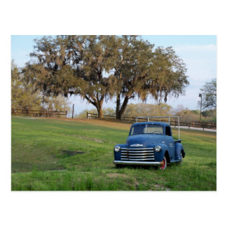 Chevy Pickup Truck Old Country Meadow Pickup Truck Postcard
