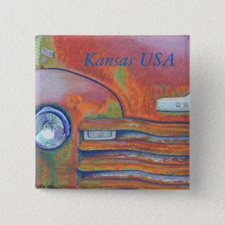 Chevy Rust Chevrolet Pickup Truck 15 Cm Square Badge
