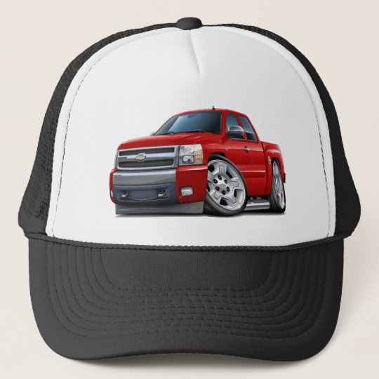 Chevy Silverado Red Extended Cab Cap