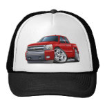 Chevy Silverado Red Extended Cab Mesh Hat