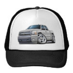 Chevy Silverado White Extended Cab Mesh Hat