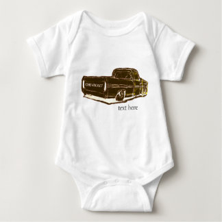 Chevy truch drawing baby bodysuit