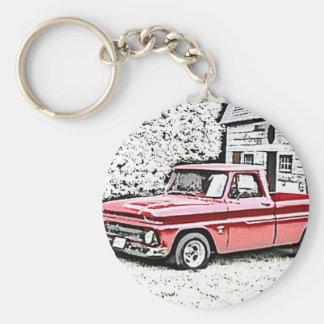 Chevy Truck Basic Round Button Key Ring
