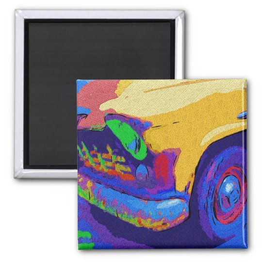 chevy truck square magnet