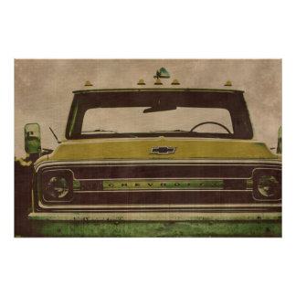 Chevy truck Vintage texture poster