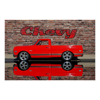 Chevy Truck with Reflection Posters
