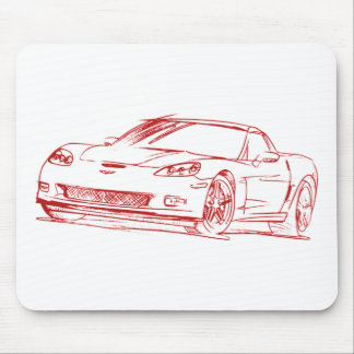 Chevy Vette 2006 Z06 C6 Mouse Pads