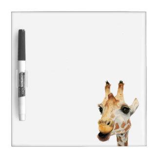 """Chew""  Giraffe Watercolor Painting Dry Erase Board"