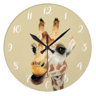 """Chew"" Large Clock"