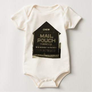 Chew Mail Pouch Tobacco - Antique Photo Finish Baby Bodysuit