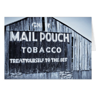 Chew Mail Pouch Tobacco Barn Greeting Card