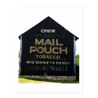 Chew Mail Pouch Tobacco Barn - Original Photo Postcard