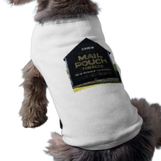 Chew Mail Pouch Tobacco Barn - Original Photo Sleeveless Dog Shirt