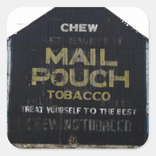 Chew Mail Pouch Tobacco Barn - Original Photo Stickers